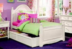 Love this twin bed for girls room