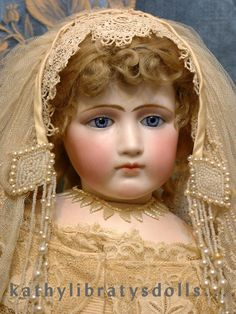 """Once In A Lifetime ALL ORIGINAL 25"""" Jumeau Portrait Fashion Poupee Bride c. 1890"""