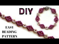 Simple beaded pattern Bracelet making tutorial DIY Bracelet with beads - YouTube