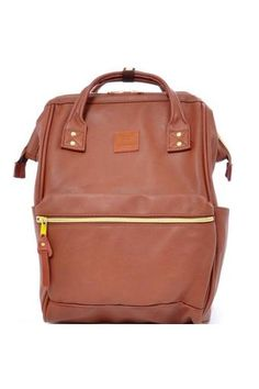 ebffb1694d Authentic anello backpack (leather version) Japan hot-selling (large size,  BROWN color)