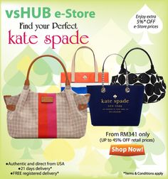 Enjoy additional 5% discount on Kate Spade products on our e-Store. Valid till 30 Jun