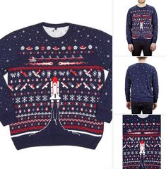 We are approaching Christmas jumper season and if you want something a little different, check out this Space Shuttle Christmas jumper at the Science Museum. Science Museum, Christmas Jumpers, Space Shuttle, Cool Designs, To Go, Seasons, Retro, Check, Jackets