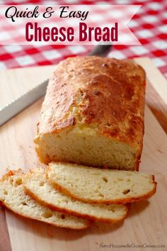 I love having fresh bread but rarely seem to find the time to make it. This quick cheese bread recipe sounds like the perfect answer!