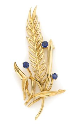 Gold and Sapphire Clip, Van Cleef & Arpels for Sale at Auction on Wed, - - Important Estate Jewelry Van Cleef And Arpels Jewelry, Van Cleef Arpels, My Birthstone, Vintage Jewelry, Sapphire, Fine Jewelry, Jewelry Design, Women's Brooches, Gemstones