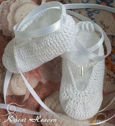 Ballet crochet baby slippers....you can find this on youtube, and she will show you how to create them... =]