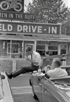 Robert Kennedy at a drive-in Spring 1960