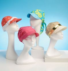 Hats with visors sewing pattern from Kwik Sew. K4107, Hats