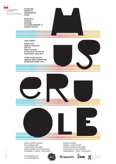 Poster Graphics for Museruole – women in experimental music (2013) by Ambrosi Graphics www.ambrosigraphics.com