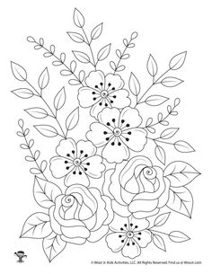 Flowers Nature Adult Coloring Page Coloring Pages Nature, Geometric Coloring Pages, Shape Coloring Pages, Butterfly Coloring Page, Tree Coloring Page, Horse Coloring Pages, Pattern Coloring Pages, Flower Coloring Pages, Mandala Coloring Pages