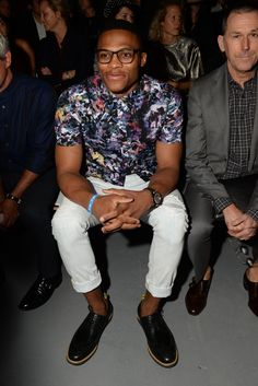 Wish more men would feel free to have the creative style of Russell Westbrook!