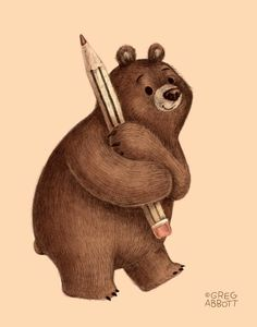 The Drawing Bear Greg Abbot