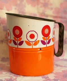 vintage flour sifter. I loved sifting flour when I first started backing as a young tween.