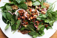 Lottie + Doof » Baby Spinach Salad with Dates & Almonds - Jerusalem cookbook