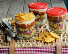 Picnic salad idea. Make one for everyone and serve with tortilla chips/french bread. Yum.