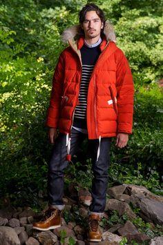 Dyersville orange jacket featured in FreshCotton's Fall/Winter 2012 Lookbook.