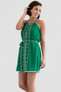 2f8f4ea9ea1 Tiki Island Embroidered Dress francesca s
