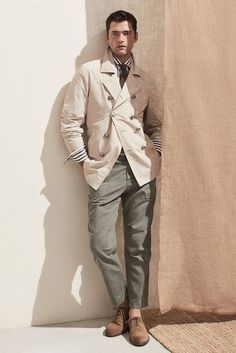 Brunello Cucinelli Spring 2020 Menswear Fashion Show - Daily Fashion Sean O'pry, Soften T Shirts, Stylish Men, Men Casual, Smart Casual, Casual Dressy, Daily Fashion, Mens Fashion, Jogger