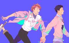 Oikawa Tooru x Iwaizumi Hajime / Haikyuu! Oikawa X Iwaizumi, Daisuga, Iwaoi, Kuroken, Haikyuu Yaoi, Haikyuu Ships, Artist Problems, Kurotsuki, Volleyball Anime