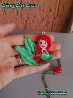Ariel the little mermaid polymer clay doll Disney