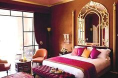 Arabian Theme Dome mirror in Bedroom