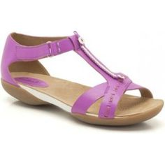 Womens Casual Sandals - Raffi Magic in Pink Leather from Clarks shoes Pink Leather, Sandals, Casual, Magic, Shoes, Women, Fashion, Clarks Sandals, Slide Sandals