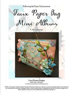 dfc24c5ed85c Faux Paper Bag Mini Album Instructions ONLY by FollowThePaperTrail Paper  Trail