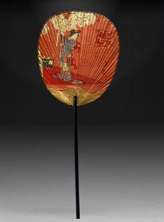 Japanese long-handled fan, ca. 1880
