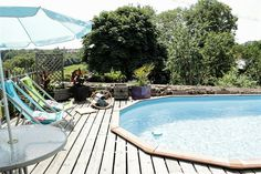 with a private heated pool Stone Farms, Farm Cottage, Rustic Charm, 18th Century, Beams, Countryside, Restoration, Swimming, France