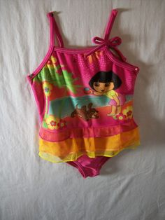Nickelodeon Girls Size 12 Months Dora Swimwear Summer Everyday Polyester Blend #Nickelodeon #OnePiece