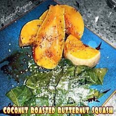 ✦Coconut + Mixed Herb Roasted Butternut Squash ✦ This simple meal was scrumptious! Roasted several organic butternut squash in a extra virgin #coconut oil with mixed herbs and served with a side of collard greens. Drizzled everything with organic tamari and more #coconutoil along with freshly ground Celtic Sea Salt® organic toasted sesame salt. Sweet, nutty, savory flavor profile with a rich, creamy and fatty consistency. Great way to ingest #cocooil ~ YUM!