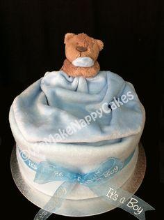Baby Boys Comforter Nappy Cake