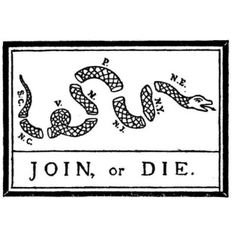 Join or Die Snake - Colonies of the Revolutionary War