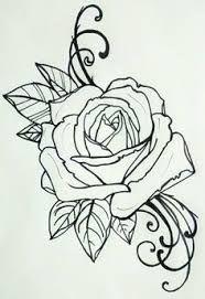 rose outline old school tattoo - Pesquisa Google