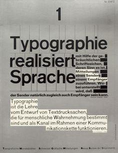 Typografische Monatsblätter. Die Fachzeitschrift für Typografie, Schrift und visuelle Kommunikation | Cover from 1972 issue 1 | Wolfgang Weingart