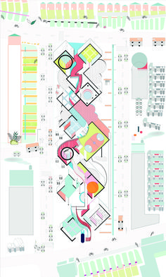 Pearl Ting Ting Ho Drawing Comes First_A landscape of Colour Fields Yale school of Architecture Architecture Concept Diagram, Architecture Graphics, Architecture Student, Architecture Drawings, Architecture Plan, Pavilion Architecture, Mos Architects, Architectes Zaha Hadid, Planer Layout