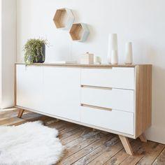 buffet bahut contemporain couleur ch ne clair et blanc laqu sibi buffet pinterest ch ne. Black Bedroom Furniture Sets. Home Design Ideas
