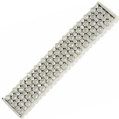 "Rarities: Fine Jewelry with Carol Brodie Moonstone and Diamond Sterling Silver 7"" Bracelet at HSN.com."