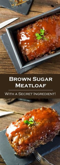 Your family will love this exceptionally tender Brown Sugar Meatloaf. It is loaded with the rich flavors of Worcestershire and French onion and painted with a sweet brown sugar glaze. Taste why readers are calling this the best meatloaf recipe ever! Beef Steak Recipes, Beef Recipes For Dinner, Ground Beef Recipes, Cooking Recipes, Healthy Recipes, Beef Meals, Hamburger Recipes, Cooking Tips, Sirloin Recipes