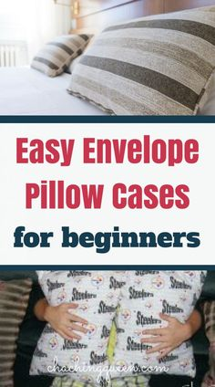 I'm not that good at sewing, but I was easily able to sew these envelope pillow covers for our couch pillows. Get the DIY Envelope Pillow Covers Craft instructions here. Sewing Pillows, Diy Pillows, Couch Pillows, Cushions, Sewing Curtains, Pillow Ideas, Throw Pillows, Sewing Hacks, Sewing Tutorials