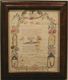 """""""VERY RARE TENNESSEE FRAKTUR"""" (Dated 1868. To this date, the only known Tennessee Fraktur.) > Past Sales"""