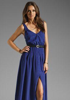 LADAKH Dual Landscape Dress in Pop Cobalt