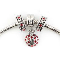 Red Rhinestone Crystal Xoxo Kiss And Hug Silver Plated Heart Set Beaded Bracelet Fit All Brands Pinterest
