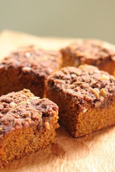 Pumpkin Spice Bars Recipe on Yummly. @yummly #recipe