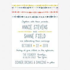 Brooklyn Loft Wedding Invitations www.lovevsdesign.com