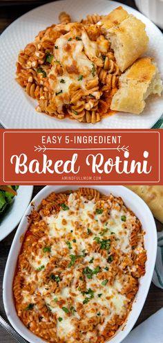 Rotini Pasta Recipes, Pasta Recipes For Kids, Pasta Dinner Recipes, Kids Cooking Recipes, Pasta Dinners, Quick Dinner Recipes, Kitchen Recipes, Quick Food Recipes, Comfort Food Recipes