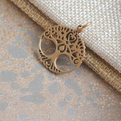 Tree of Life, Boho Jewelry, Bronze Pendant, Heart Pendant, Tree, Heart, Bronze Jewelry, Jewellery, 23x21mm, 6mm Bail, One Pendant by WanderlustWorldArts on Etsy