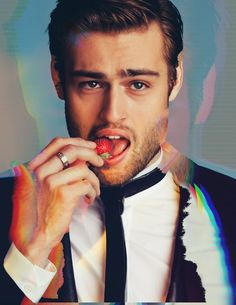 Douglas Booth! Oh god can that strawberry he's biting please be my bottom lip!