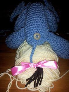 Crochet Crafts: Eeyore Inspired Softie Crochet Crafts, Yarn Crafts, Crochet Toys, Crochet Ideas, Crochet Baby, Knit Crochet, Crochet Patterns Amigurumi, Knit Patterns, Eeyore