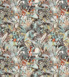 Jungle Beat Fabric by Matthew Williamson | Jane Clayton