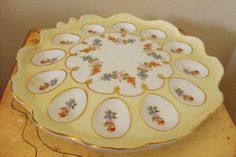 Vintage Antique Deviled Egg Plate  by FancySchmancyJewels on Etsy, $49.00